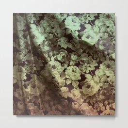 drape floral Metal Print