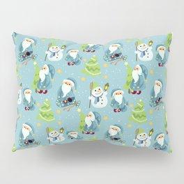Blue Faitu Frozen Forest Pillow Sham