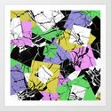 Pastel Marble Tiles Abstract Pattern by printpix