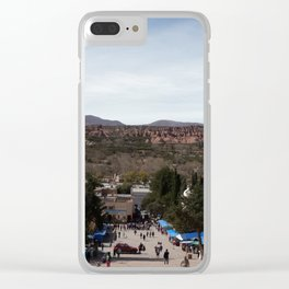 City in the mountains Clear iPhone Case