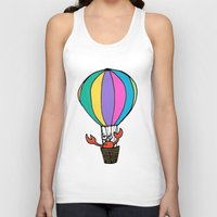 percy jackson Tank Tops featuring Percy Purcell the Worried Crab by Abi Makes Music