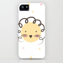The dot lion iPhone Case