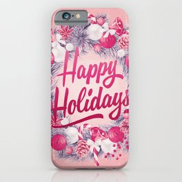 Holiday Greetings 8 iPhone Case
