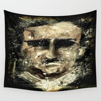 edgar allan poe Wall Tapestries featuring Edgar Allan Poe by Anso Strange