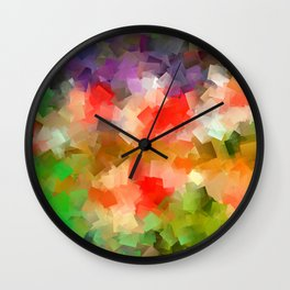 Meadow with flowers Wall Clock
