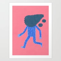 run Art Prints featuring Run by Jack Teagle