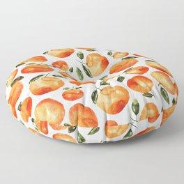 Watercolor tangerines Floor Pillow