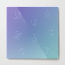 Tooth, Teeth, Calm Ocean View gradient color Metal Print
