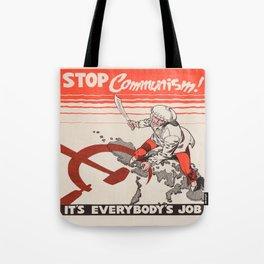 Vintage poster - Stop Communism Tote Bag