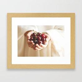"""""""One must ask children and birds how cherries and strawberries taste."""" --Johann Wolfgang von Goethe  Framed Art Print"""