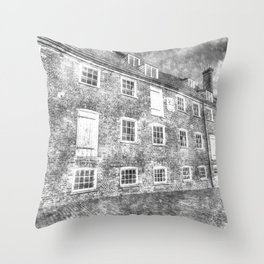 House Mill Bow London Vintage Throw Pillow