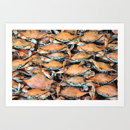 Crab Stack Art Print
