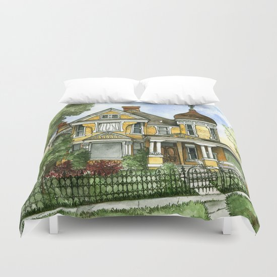 Victorian in The Avenues Duvet Cover
