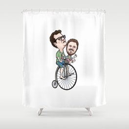 Dollop Bicycle Shower Curtain