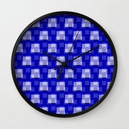 Sharp Interlock - true blue Wall Clock