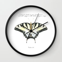 Psalm 61:4 Wall Clock