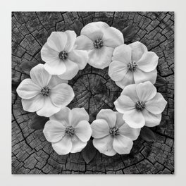 Flower circle Canvas Print