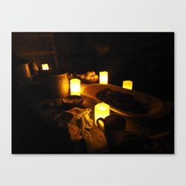 Kitchen by Candlelight Canvas Print
