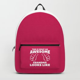 Awesome Grandma Funny Quote Backpack