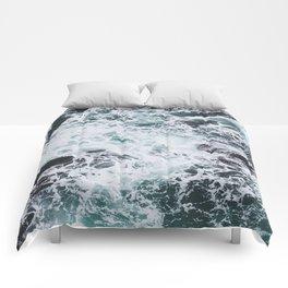 OCEAN - ROCKS - FOAM - SEA - PHOTOGRAPHY - NATURE Comforters