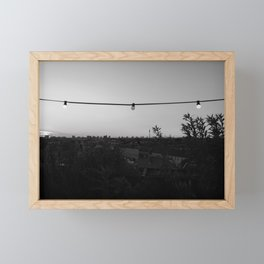 Berlin Rooftop Views - Black & White Framed Mini Art Print