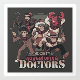 Society of Adventuring Doctors Art Print