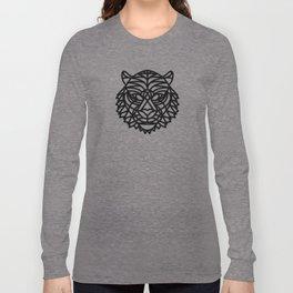 Tiger Head (Geometric) Long Sleeve T-shirt