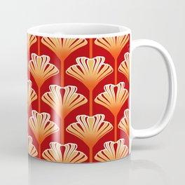 Art Deco Lily, Mandarin Orange and Gold Coffee Mug