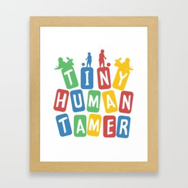 Tiny Human Tamer Framed Art Print
