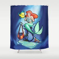 comic book Shower Curtains featuring Comic Book Day by rnlaing