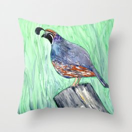Quirky Fellow Throw Pillow