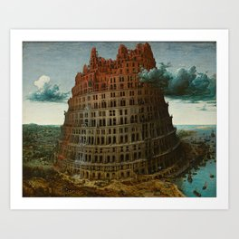 Pieter Bruegel the Elder - The Tower of Babel (Rotterdam) Art Print