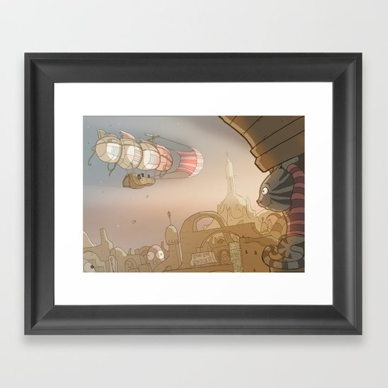 On the Road 8: Good Bye Framed Art Print