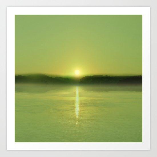 Pastel vibes 51 Greenery Art Print