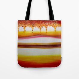 """Autumn"" Original oil finger painting by Monika Toth Tote Bag"