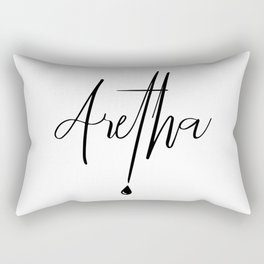 Aretha Franklin with a tear drop Rectangular Pillow