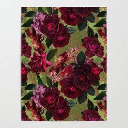 Vintage & Shabby Chic - Botanical Roses Summer Garden   Poster