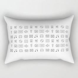 Music Icons Rectangular Pillow