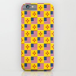 Mix of flag: USA and new mexico iPhone Case