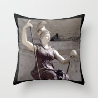 postcard Throw Pillows featuring Rome postcard by Miz2017