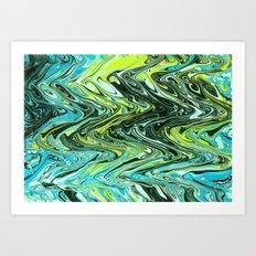 Paper Marbling 02 Art Print