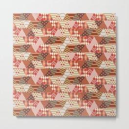 Triangle Fall Autumn Pattern Metal Print