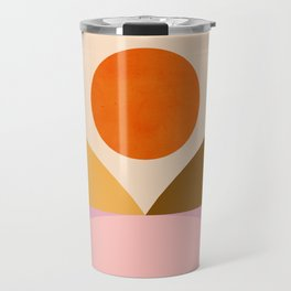 Abstraction_SUNSET_Mountains_ART_Minimalism_001 Travel Mug