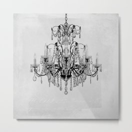 belle époque chandelier Metal Print