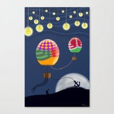 BALLOON NIGHT Canvas Print