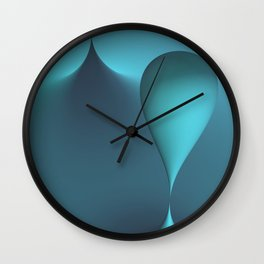 turquoise geometry -2- Wall Clock