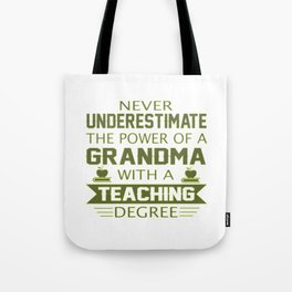Grandma Teacher Tote Bag