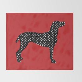 the greedy dog Throw Blanket
