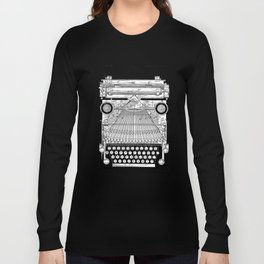 patent art Granville Type Writer 1900 Long Sleeve T-shirt