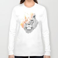 lion Long Sleeve T-shirts featuring If I roar (The King Lion) by Picomodi